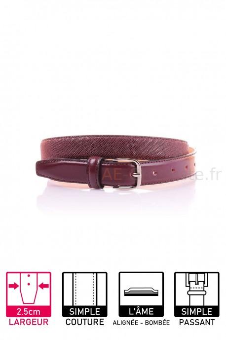 22834 Women's leather Belt Bordeaux