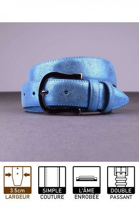 MV624 Leather belt - Blue