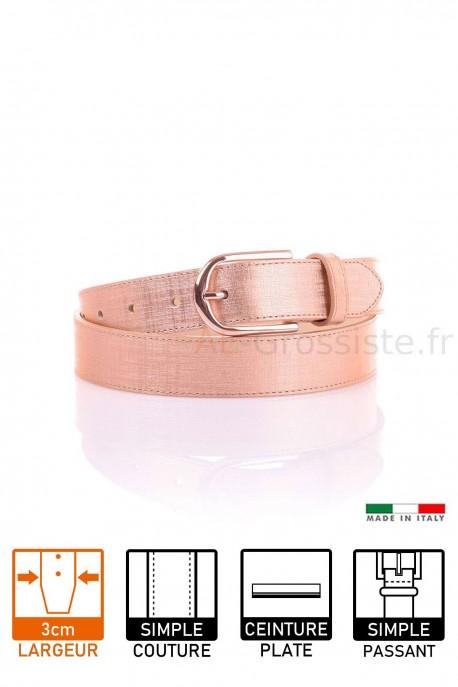 14054 Women's leather Belt - Golden
