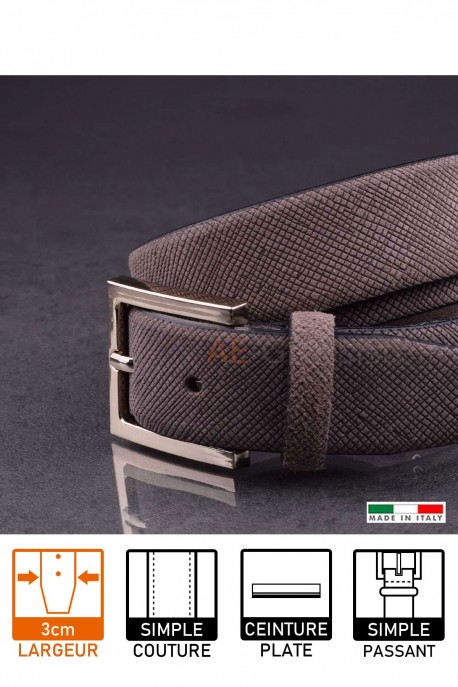 23729 Leather belt Taupe