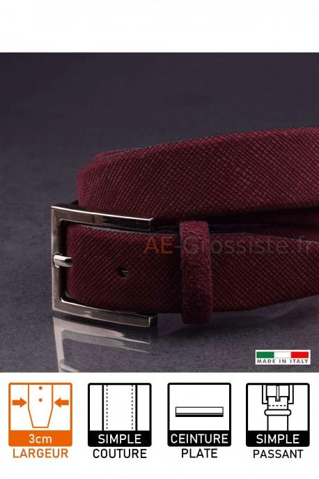 23729 Leather belt Rouge