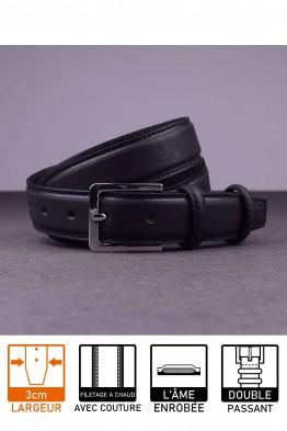 F027/30-EF Leather belt - Black