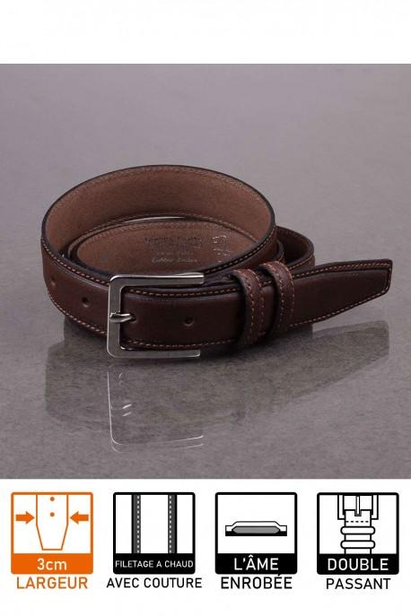 italian F027 brown leather belt