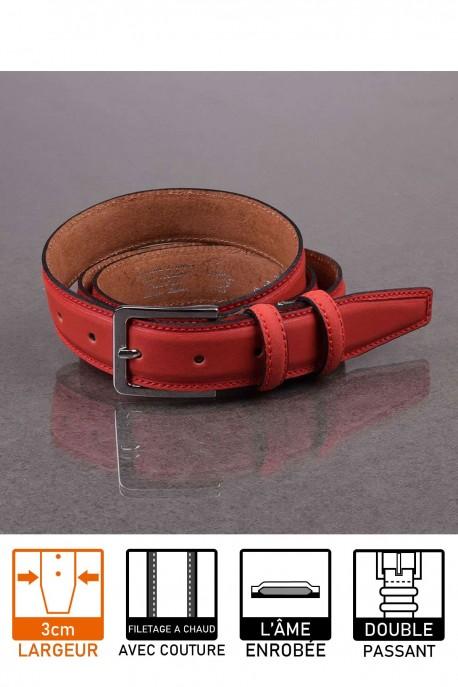 italian F027 red leather belt