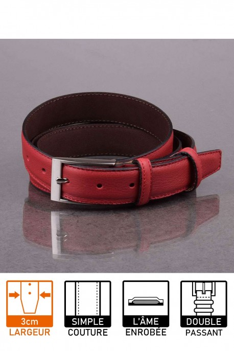 italian NOS018 red leather belt