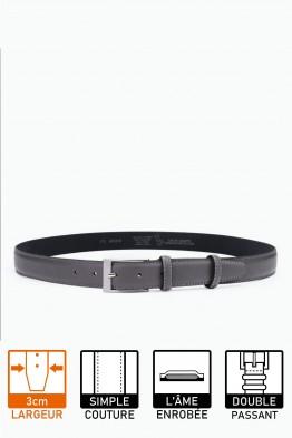 NOS018italian leather belt gray