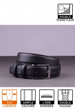 NOS021 Leather belt - Black