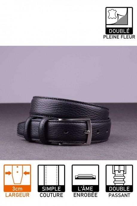 NOS021 Leather belt - Black