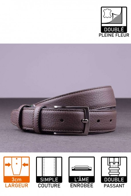 NOS021 Leather belt - Taupe