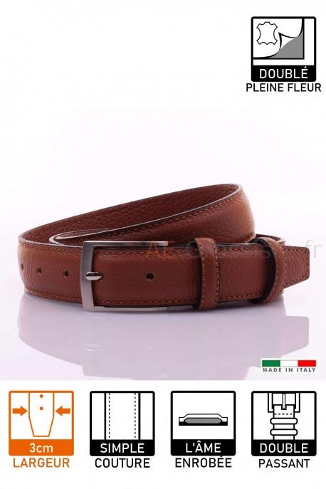 NOS021 Leather Belt Cognac