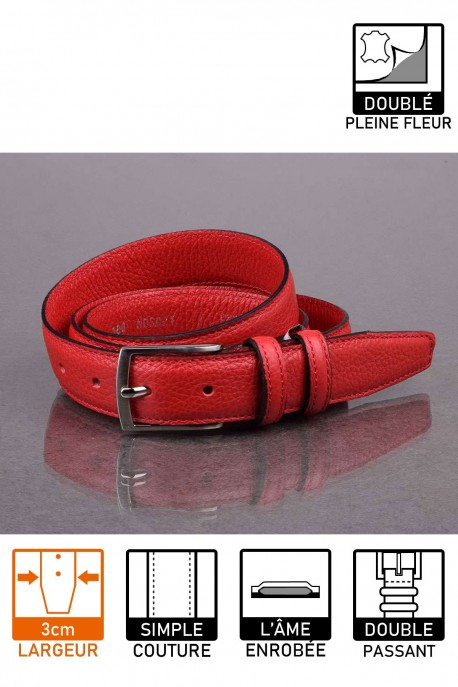 italian NOS021 red leather belt