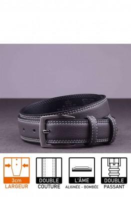 F047/EF Leather belt - Gray