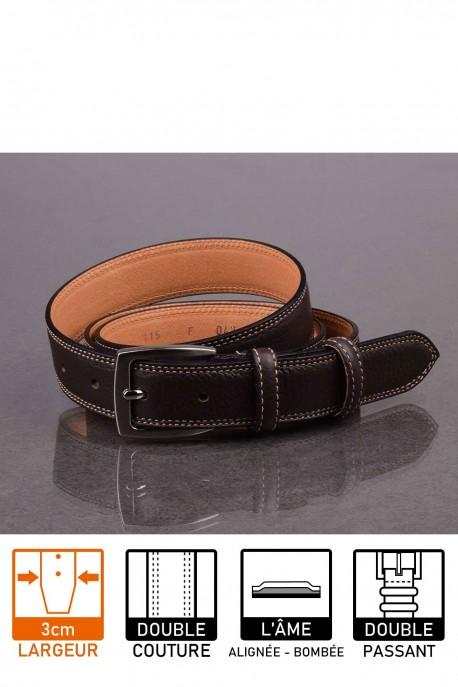 italian F047 brown leather belt