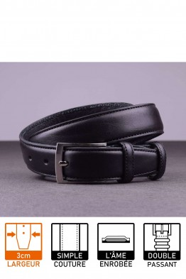 NOS019 Leather belt - Black