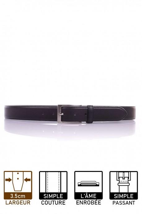 NOS003/35 Leather belt - Black