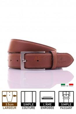 NOS003/35 Leather Belt - Cognac