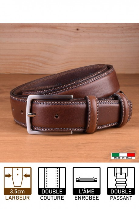 A1549/35 LEATHER BELT - Brown