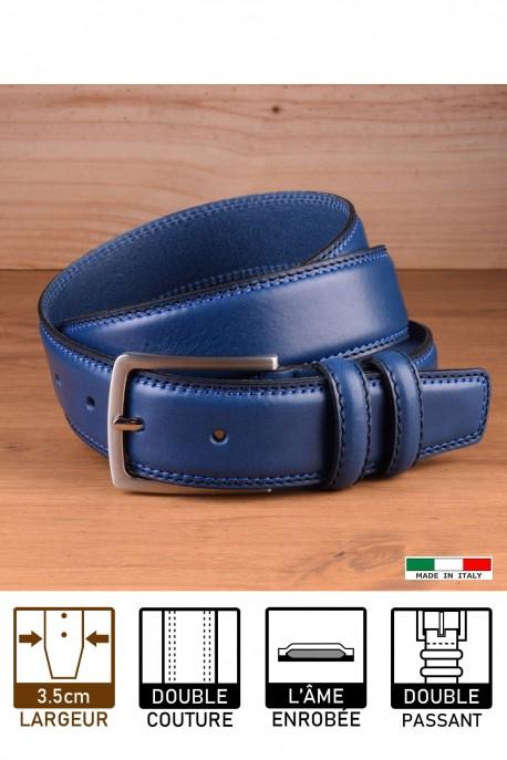 A1549/35 LEATHER BELT - Blue
