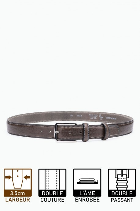A1549 LEATHER BELT - Gray