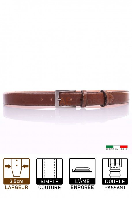 NOS003/35 Leather belt - Brown