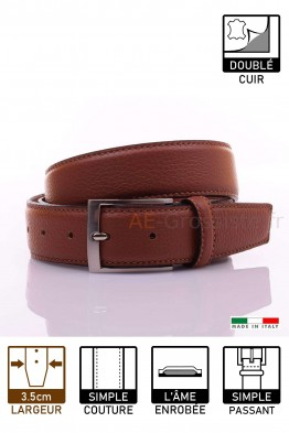 NOS020/35 Leather Belt - Cognac