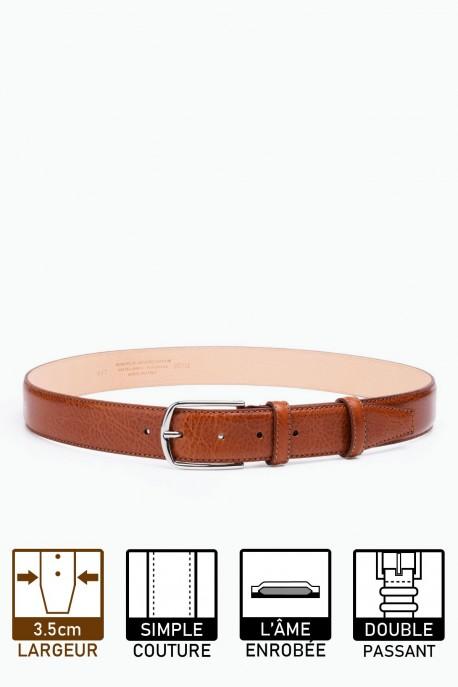 ZE-007-35 Leather Belt - Cognac