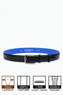 ZE-004-35 Leather Belt - Black