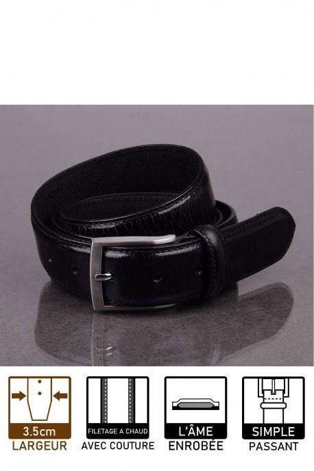 italian NOS031 black leather belt