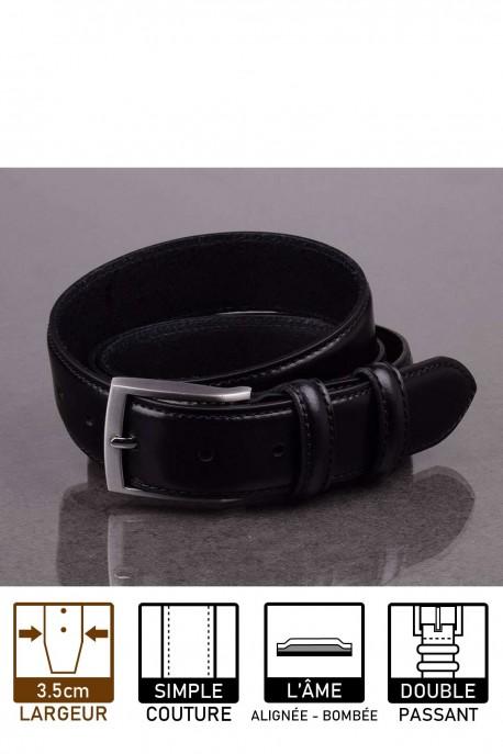 italian NOS04 black leather belt