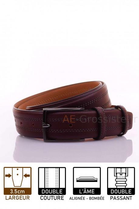 F031/35 Leather Belt Plum
