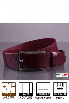 14815/4 Leather belt - Bordeaux