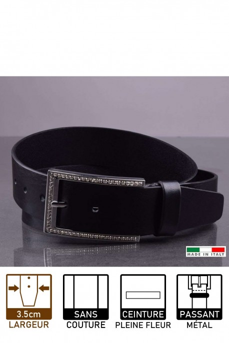 14815/4 Leather belt - Black