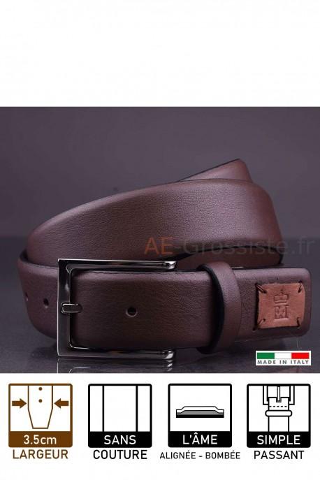 G970/35 Leather belt Brown