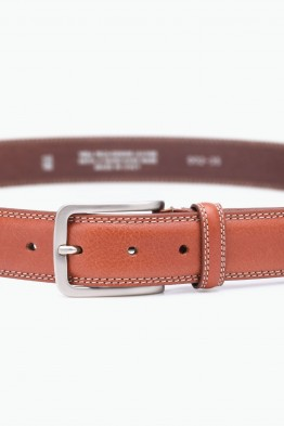 ZE-002-35 Leather Belt - Cognac
