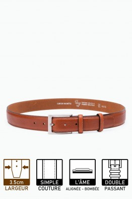 ZE-002-35 Leather Belt - Brown