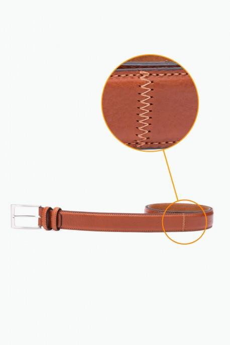 ZE-002-35 Leather Belt - Brown