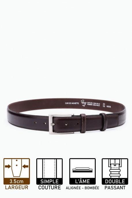 NOS-016 Leather Belt - Brown