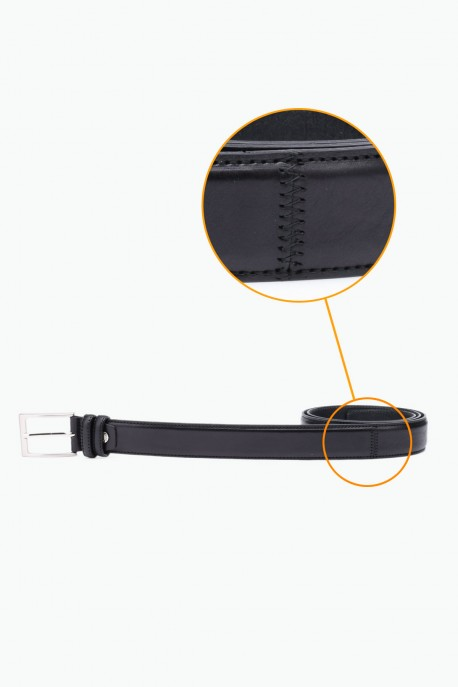 NOS-016 Leather Belt - Black