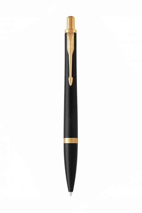 Ballpoint Pen Parker Urban Metro flat Black golden ornament S1975452