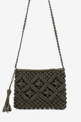 Braided textile shoulder bag HEMAS-18
