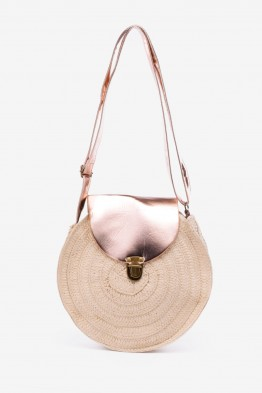 HEMAS-26 Synthetic straw crossbody bag - beige