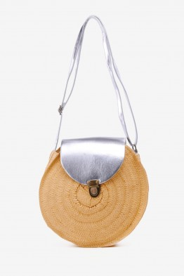 HEMAS-26 Synthetic straw crossbody bag - Camel