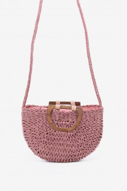 HEMAS-27 Synthetic straw crossbody bag