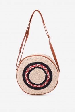 MA-05 Synthetic straw crossbody bag