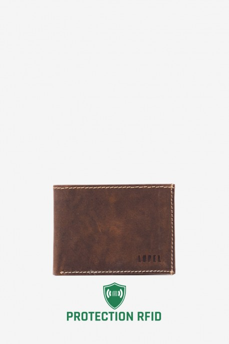 LUPEL® - L296AV Leather Wallet with RFID protection
