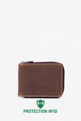 LUPEL® AVENTURA - L404AV Leather Wallet with RFID protection