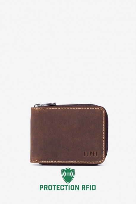 LUPEL® - L404AV Leather Wallet with RFID protection