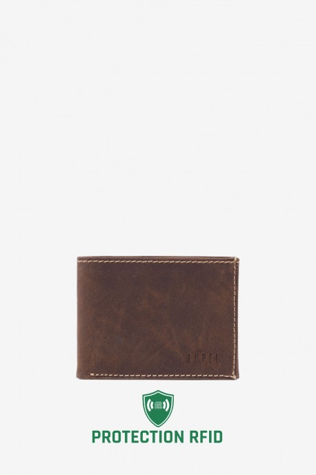 LUPEL® - L428AV Leather Wallet with RFID protection