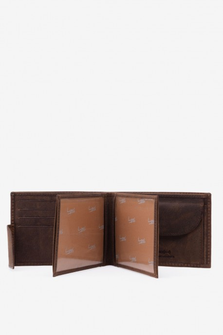 LUPEL® AVENTURA - L482AV-R Leather Wallet with RFID protection