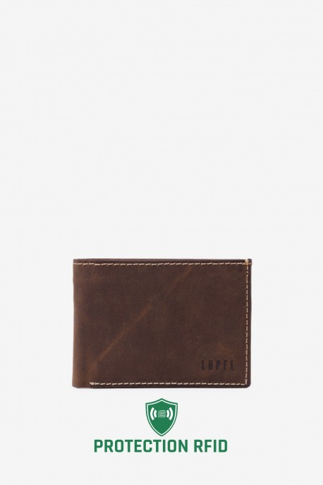 LUPEL® AVENTURA - L509AV Leather Wallet with RFID protection
